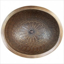 "Linkasink B017 AB Oval Wing Antique Bronze Drop in / Undermount Lavatory or Vessel Sink 16.5"" X 13.5"" X 6"" Id"