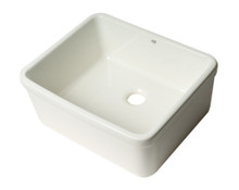 "ALFI AB507 White 20"" Single Bowl Apron Fireclay Farmhouse Kitchen Sink"