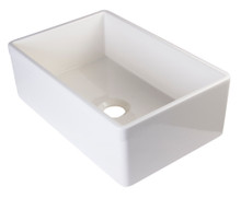 "ALFI AB511-B Biscuit 30"" Decorative Lip Apron Single Bowl Fireclay Farmhouse Kitchen Sink"