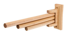 "ALFI AB5506 16"" Triple Rack Wooden Towel Bar Bathroom Accessory"
