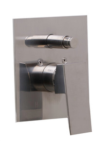 ALFI AB5601-BN Brushed Nickel Shower Valve Mixer with Square Lever Handle and Diverter