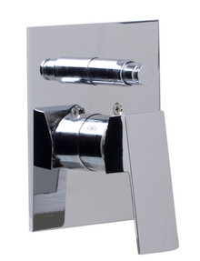 ALFI AB5601-PC Polished Chrome Shower Valve Mixer with Square Lever Handle and Diverter