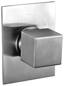 ALFI AB9209-BN Brushed Nickel Modern Square 3 Way Shower Diverter