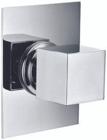 ALFI AB9209-PC Polished Chrome Modern Square 3 Way Shower Diverter