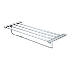 ALFI AB9539-PC Polished Chrome 24 inch Towel Bar & Shelf Bathroom Accessory
