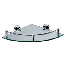 ALFI AB9546 Polished Chrome Corner Mounted Glass Shower Shelf Bathroom Accessory