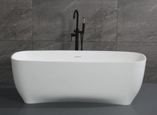"ALFI 67"" White Matte Solid Surface Resin Bathtub"
