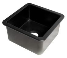"ALFI Black Matte Square 18"" x 18"" Undermount / Drop In Fireclay Prep Sink"