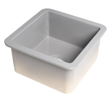 "ALFI Gray Matte Square 18"" x 18"" Undermount / Drop In Fireclay Prep Sink"