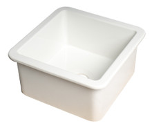 "ALFI White Square 18"" x 18"" Undermount / Drop In Fireclay Prep Sink"