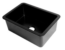 "ALFI Black Matte 27"" x 18"" Fireclay Undermount / Drop In Firelcay Kitchen Sink"