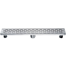 "ALFI ABLD24C 24"" Long Modern Stainless Steel Linear Shower Drain with Groove Holes"