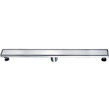 "ALFI ABLD32B-BSS 32"" Modern Brushed Stainless Steel Linear Shower Drain with Solid Cover"