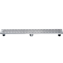 "ALFI ABLD32C 32"" Modern Stainless Steel Linear Shower Drain with Groove Holes"