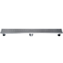 "ALFI ABLD32D 32"" Modern Stainless Steel Linear Shower Drain with Groove Lines"