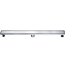 "ALFI ABLD36B-BSS 36"" Modern Brushed Stainless Steel Linear Shower Drain with Solid Cover"