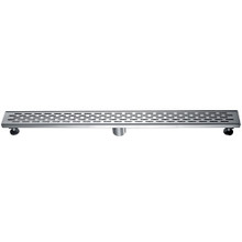"ALFI ABLD36C 36"" Modern Stainless Steel Linear Shower Drain with Groove Holes"