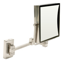 "ALFI ABM8WS-BN 8"" Square Wall Mounted 5x Magnify Cosmetic Mirror"