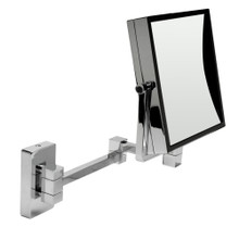 "ALFI ABM8WS-PC 8"" Square Wall Mounted 5x Magnify Cosmetic Mirror"