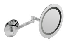 "ALFI  ABM9WLED-PC Polished Chrome Wall Mount Round 9"" 5x Magnifying Cosmetic Mirror with Light"