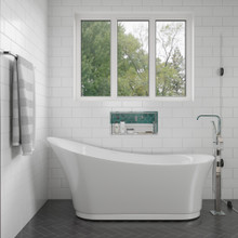 EAGO AM2140 6 Foot White Free Standing Air Bubble Bathtub