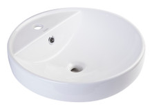 "EAGO BA141 18"" Round Ceramic Above Mount Bathroom Basin Vessel Sink"