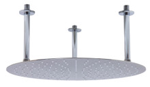 "ALFI RAIN20R-BSS 20"" Round Brushed Solid Stainless Steel Ultra Thin Rain Shower Head"