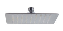 "ALFI RAIN8S-PSS Solid Polished Stainless Steel 8"" Square Ultra Thin Rain Shower Head"