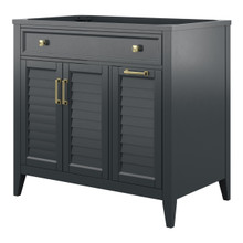 Foremost CYGV3622D Callen 36 Inch Vanity with Drawers - Charcoal Grey