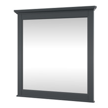 Foremost CYGM3232 Callen 32 Inch W x 32 Inch H Framed Mirror - Charcoal Grey