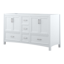 Foremost EHWV6022D Everleigh 60 Inch Wide Vanity with Doors & Drawers - White