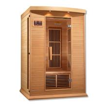 Maxxus 2 Person Low EMF FAR Infrared Carbon Canadian Hemlock Sauna