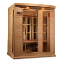 Maxxus 3 Person Low EMF FAR Infrared Carbon Canadian Hemlock Sauna
