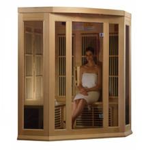 Maxxus 3 Person Corner Low EMF FAR Infrared Carbon Canadian Hemlock Sauna