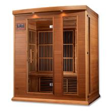 Maxxus Sauna 3 Per Low EMF FAR Infrared Carbon Canadian Red Cedar Sauna