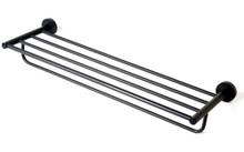 "ALFI AB9538-BM Black Matte 26"" Towel Bar & Shelf"