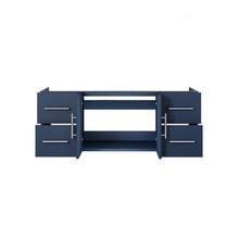 """Lexora Geneva 48"""" Navy Blue Vanity Cabinet Only"""
