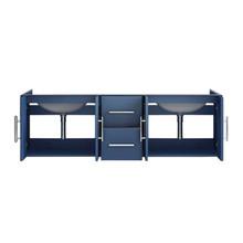 """Lexora Geneva 60"""" Navy Blue Vanity Cabinet Only"""