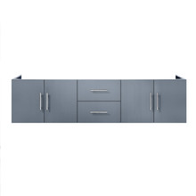 "Lexora Geneva 72"" Dark Grey Vanity Cabinet Only"