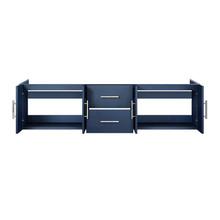 """Lexora Geneva 72"""" Navy Blue Vanity Cabinet Only"""