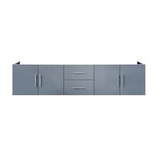 "Lexora Geneva 80"" Dark Grey Vanity Cabinet Only"