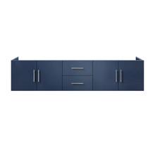 """Lexora Geneva 80"""" Navy Blue Vanity Cabinet Only"""