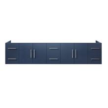 """Lexora Geneva 84"""" Navy Blue Vanity Cabinet Only"""