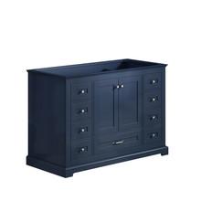"""Lexora Dukes 48"""" Navy Blue Vanity Cabinet Only"""