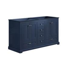 """Lexora Dukes 60"""" Navy Blue Vanity Cabinet Only"""