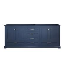 """Lexora Dukes 80"""" Navy Blue Vanity Cabinet Only"""