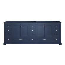 """Lexora Dukes 84"""" Navy Blue Vanity Cabinet Only"""