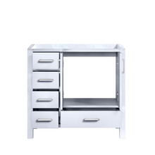 """Lexora Jacques 36"""" White Vanity Cabinet Only - Right Version"""
