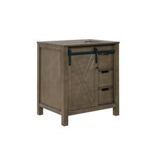 """Lexora Marsyas 30"""" Rustic Brown Vanity Cabinet Only"""