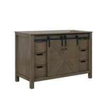 """Lexora Marsyas 48"""" Rustic Brown Vanity Cabinet Only"""
